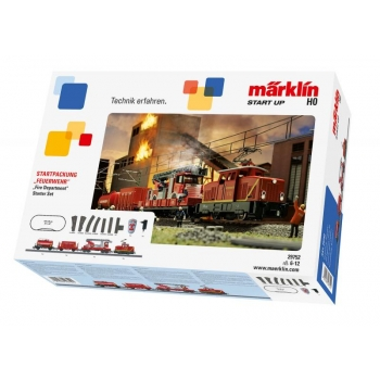 """Fire Service Train"" Starter Set. 230 Volts, 29752 Märklin"