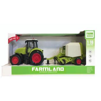 Laste traktor häälte ja tuledega, 42cm