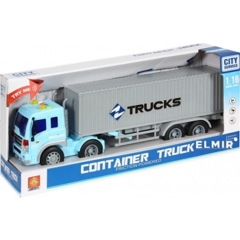 Container Truck with light and sound, 42 cm