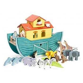 Mängukomplekt Puidust Noa Laev loomadega