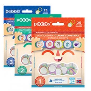 Дополнительный набор POCOS, 25 деталей, Цифры