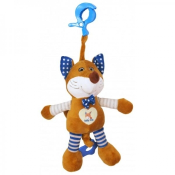"""Musical pull string toy""""Blue Fox"""""""