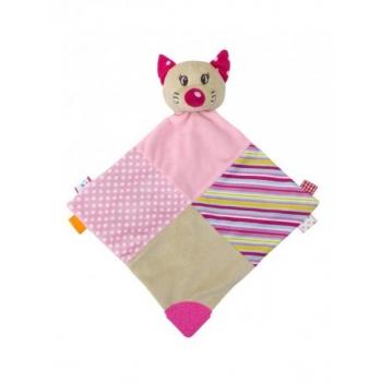 Krõbimisega pehme mänguasi närimisnurgaga-roosa Kass