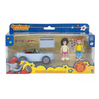 Benjamin Blümchen set with car and 2 dolls