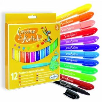 Pastelsed pliiatsid, 12 värvi