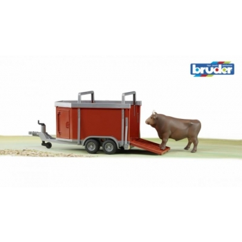 Cattle Trailer Including One Cow (Bruder 02029)