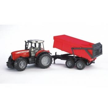 Massey Ferguson 7480 traktor järelhaagisega