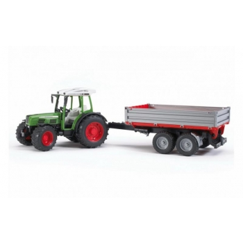 02104 BRUDER 1:16 FENDT 209 S Tractor with Trailer