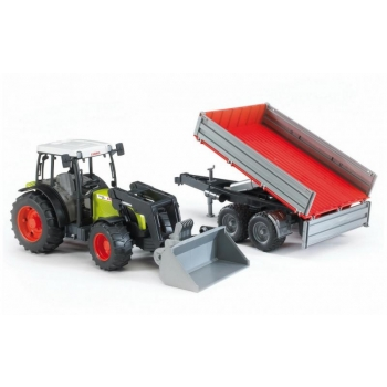 Bruder 02112 Claas Nectis 267F with frontloader and tipping trailer