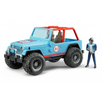 Võidusõidu Jeep figuuriga sinine