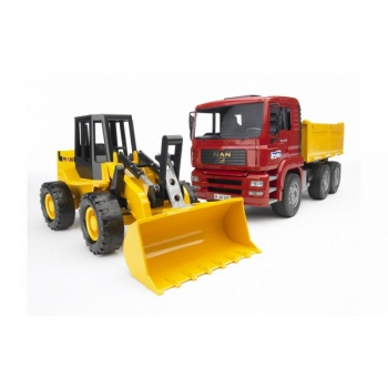 Bruder MAN TGA Construction Truck & Articulated Road Loader 02752