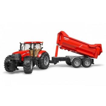 Bruder 03099 Case IH Puma 230 CVX Tractor with Tandem Halfpipe Trailer