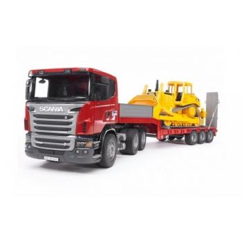 Scania treiler+buldooser CAT