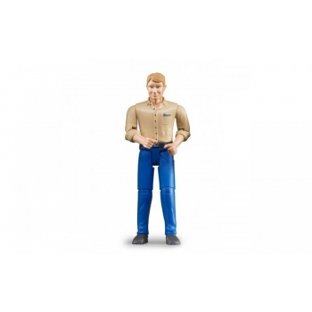 "Bruder 60006 ""Man"" Figure with Light Skin/Blue Jeans"