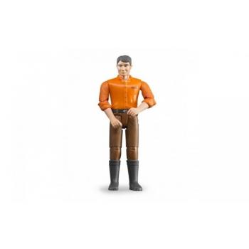 Inimfiguur, mees(hele), pruunide teksadega