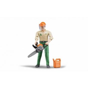Inimfiguur, metsatööline koos vahenditega