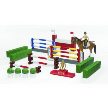 Большой набор для скачек с фигуркой всадницы и лошадью Bruder (62530)