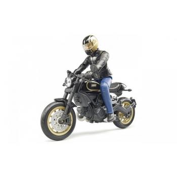 Bruder (63050) Игрушечный мотоцикл Ducati Scrambler Cafe Racer с водителем