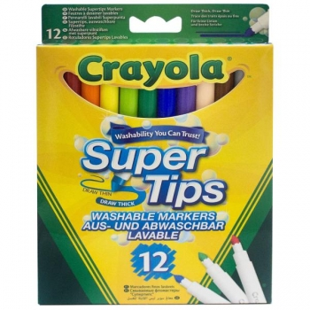 Crayola 12 Washable Supertips Markers