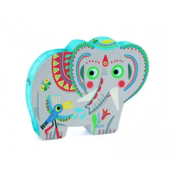 Silhouette puzzle - Haathee, Asian elephant