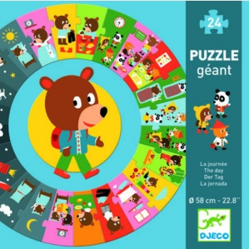 Giant puzzle - The day  (24 pcs)
