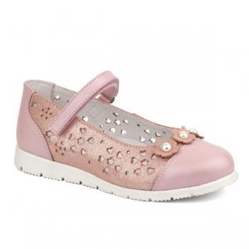 Tüdrukute kingad naturaalsest nahast Roosa