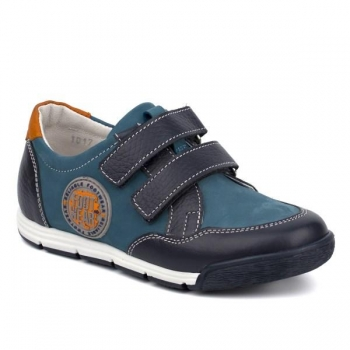 Leather Shoes for Boys Blue
