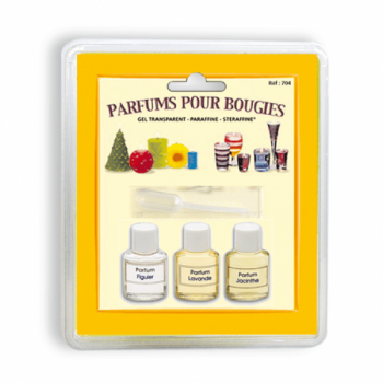 Blister pack of 3 perfumes for candles