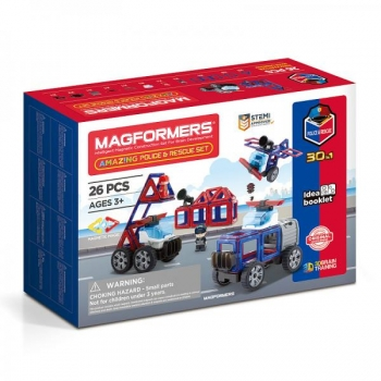 "Magformers ""Amazing Police & Rescue Set"""