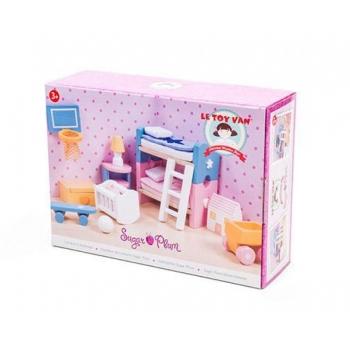 Dollhouse Furniture/Sugarplum children's room 17 pcs.