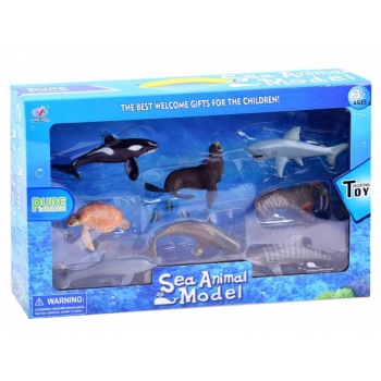 A set of sea animals figurines