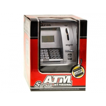 ATM silver piggy bank to save