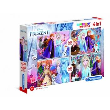 Clementoni puzzle Super Color  Frozen 2, 4 in 1(2x20el.+2x60el)