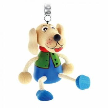Wooden Figure with a Spring  Bino toy