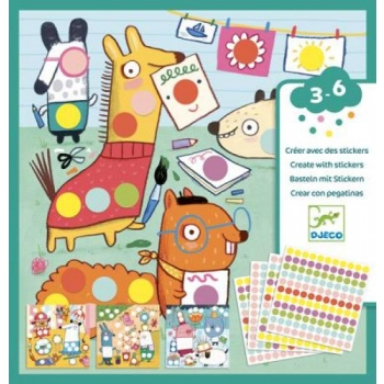 Create with stickers - With coloured dots