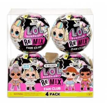 LOL Surprise! Remix Fan Club 4 Pack. MGA