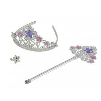 Printsessi komplekt:sõrmus,peavõru krooniga ja võlukepp valgusefektidega
