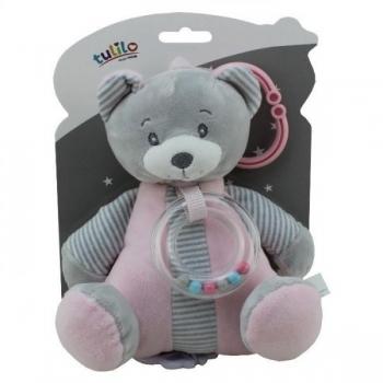"""Tulilo Muusikaline riputatav mänguasi """"Karu"""" roosa 18cm"""