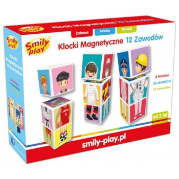"Smily Play Магнитные кубики ""Профессии"" 6 штук"