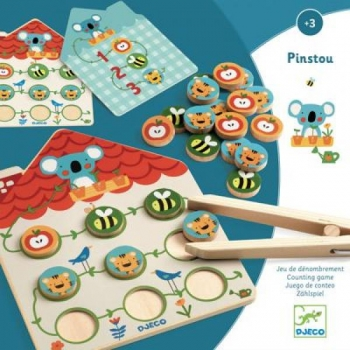 Educational wooden game - Pinstou