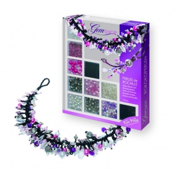 Children seed beads jewelry making kit (Violet/Rose)