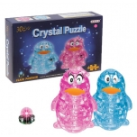 Crystal Puzzle Penguin with light