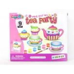 Paint your own mini tea Set, 9 pcs