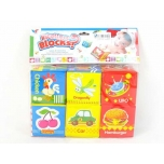 Soft Cloth Learning Cubes, 6 pcs