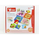 Puzzle Set Fruits and Vegetables, 82 pcs