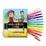 "Colouring book with felts ""Fashion Girls"""