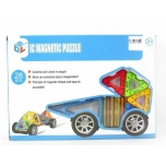 Magnetic Puzzle with wheels, 28 pcs