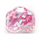Детский набор доктора, Розовый (12 предметов) со звуком и светом