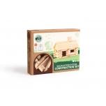 Деревянный бревенчатый конструктор Дом 36 деталей