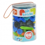 Pin Bricks, 66 pcs, Mochtoys 11074, 1+